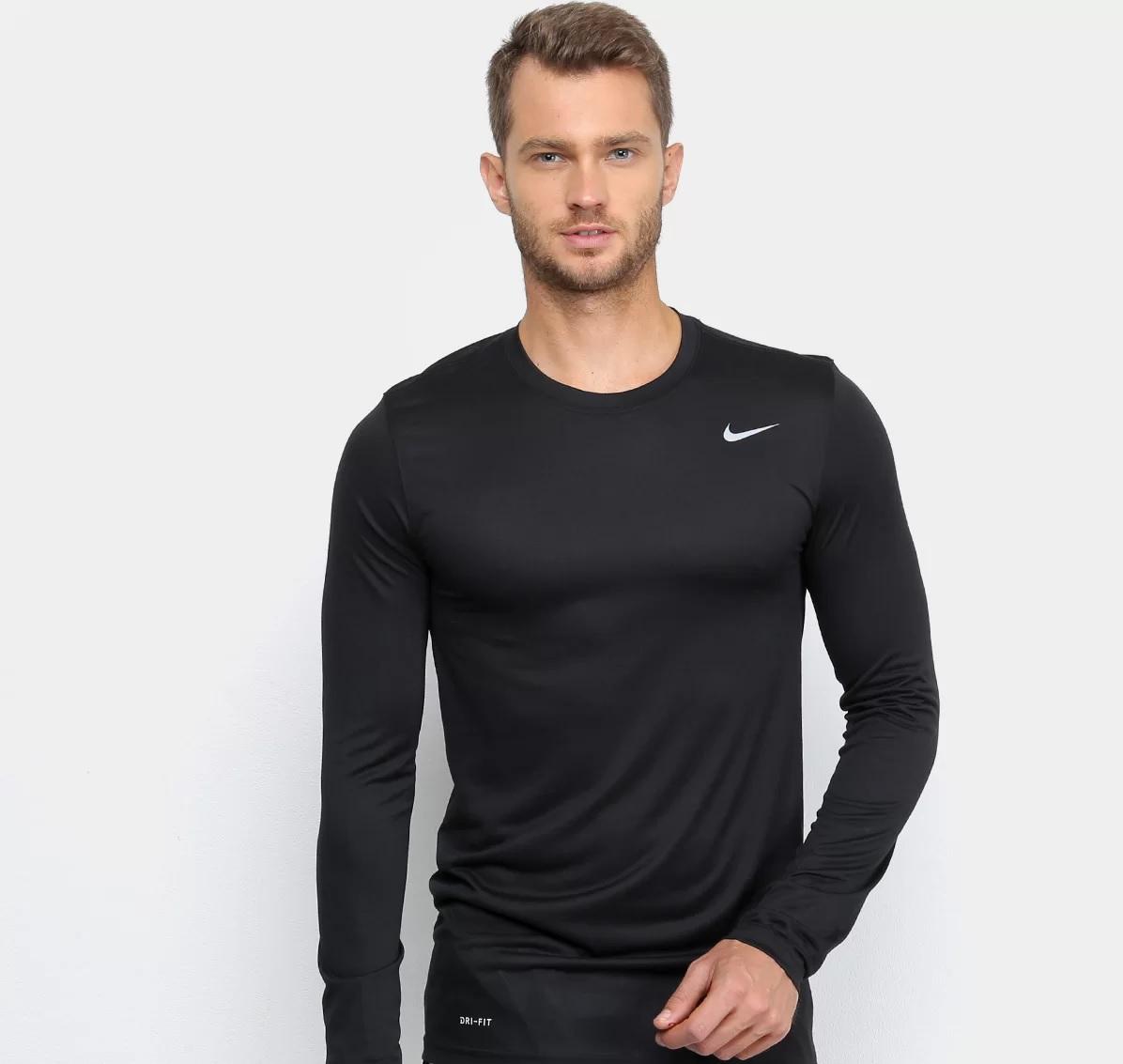 Camiseta Nike Miler Dri-Fit Legend - Preta