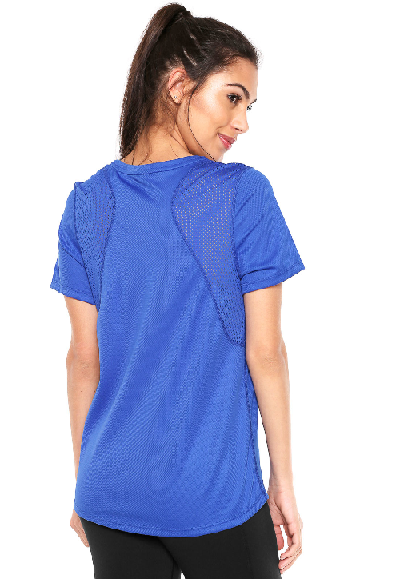 Camiseta Nike Top Ss Run Azul