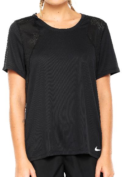 Camiseta Nike Top Ss Run Preta