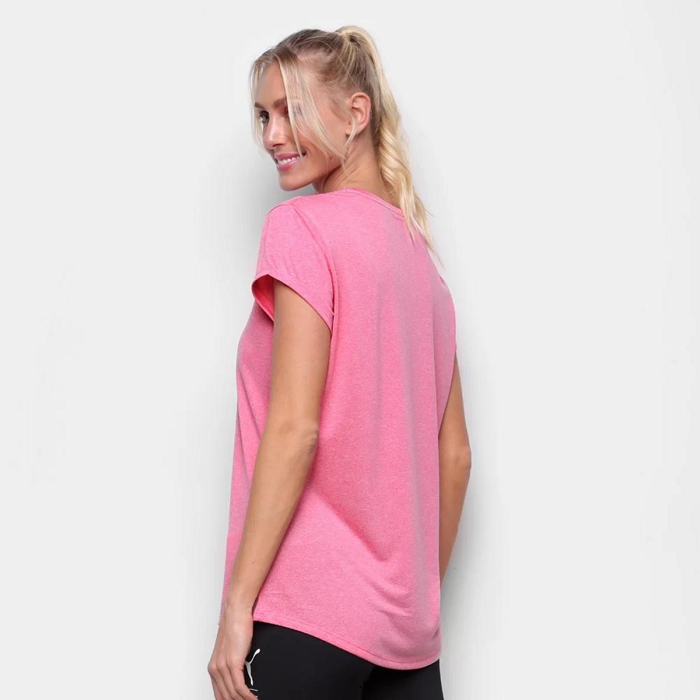 Camiseta Puma Active Heather Feminina - Rosa