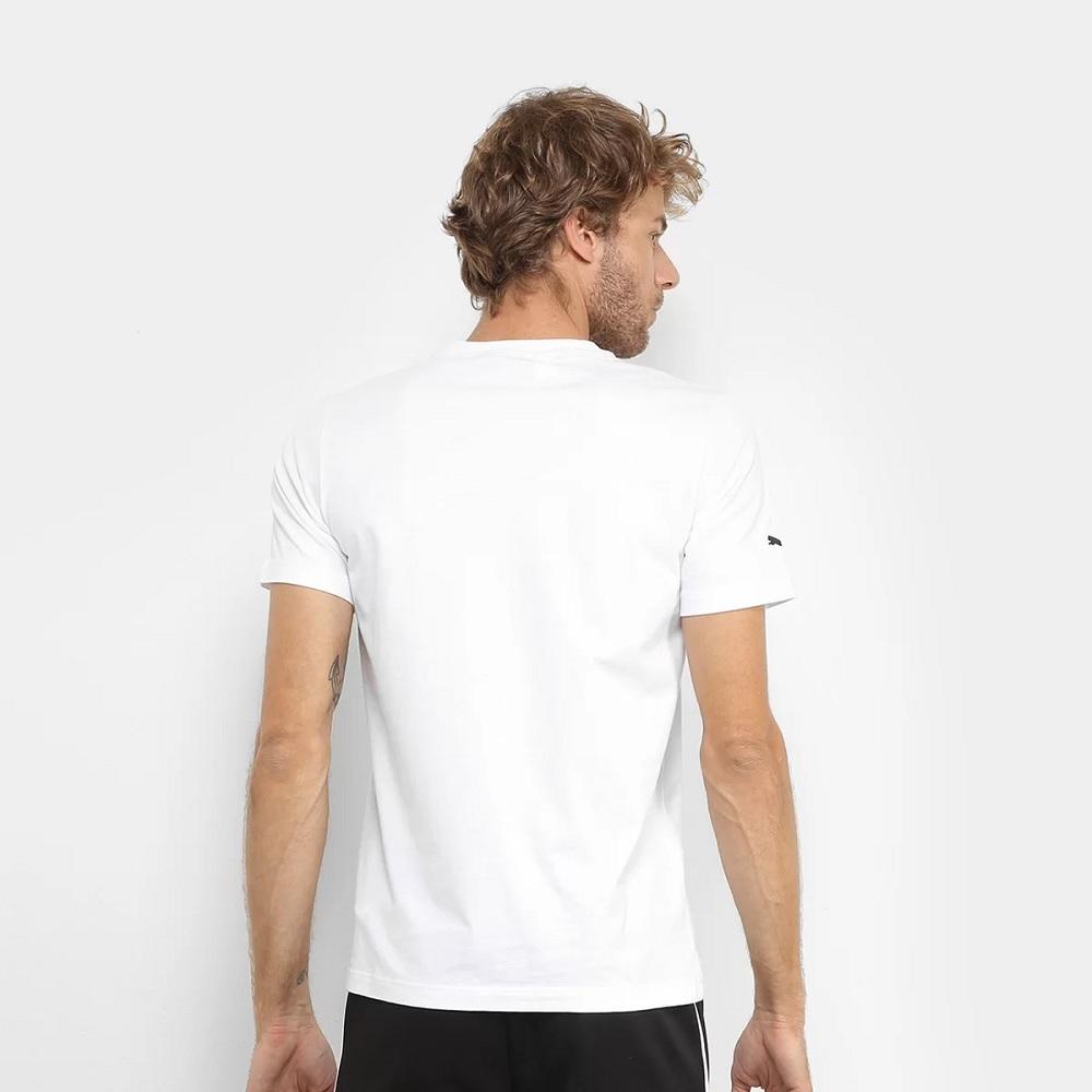 Camiseta Puma BMW MMS Logo Masculina - Branco