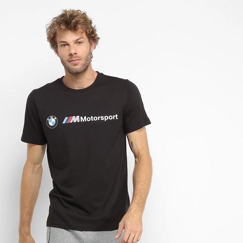 Camiseta Puma BMW MMS Logo Masculina - preta