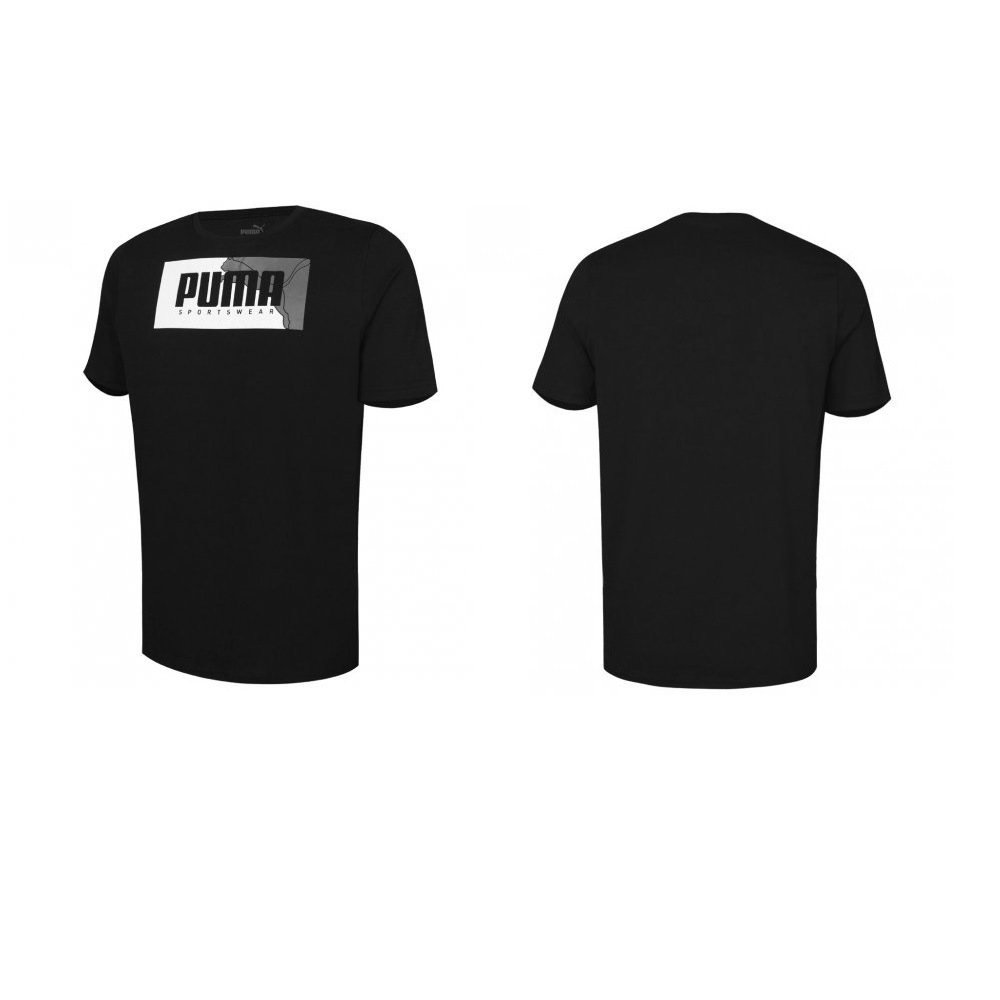 Camiseta Puma Box graphic tee Masculino - Preto