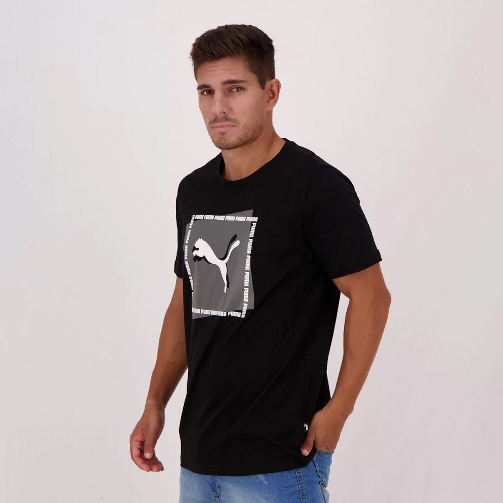 Camiseta Puma Cat Brand Graphic - Preto