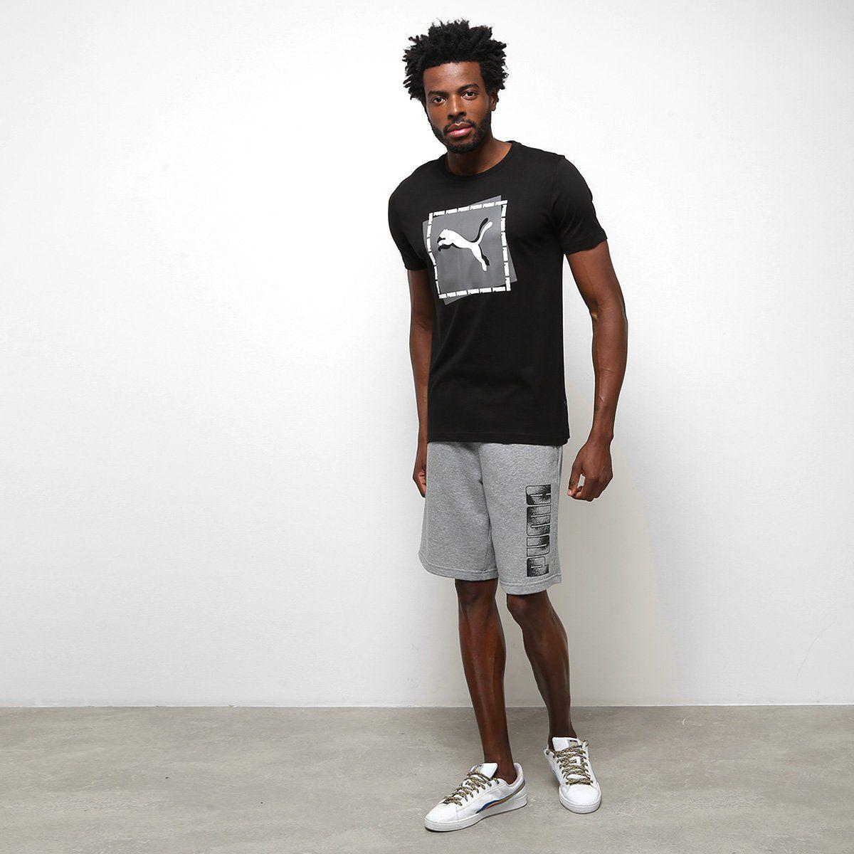 Camiseta Puma Cat Brand Graphic - Preto - Original