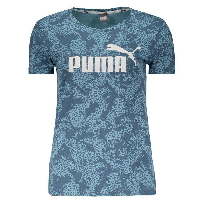 Camiseta Puma Elevated Ess Aop Tee Azul