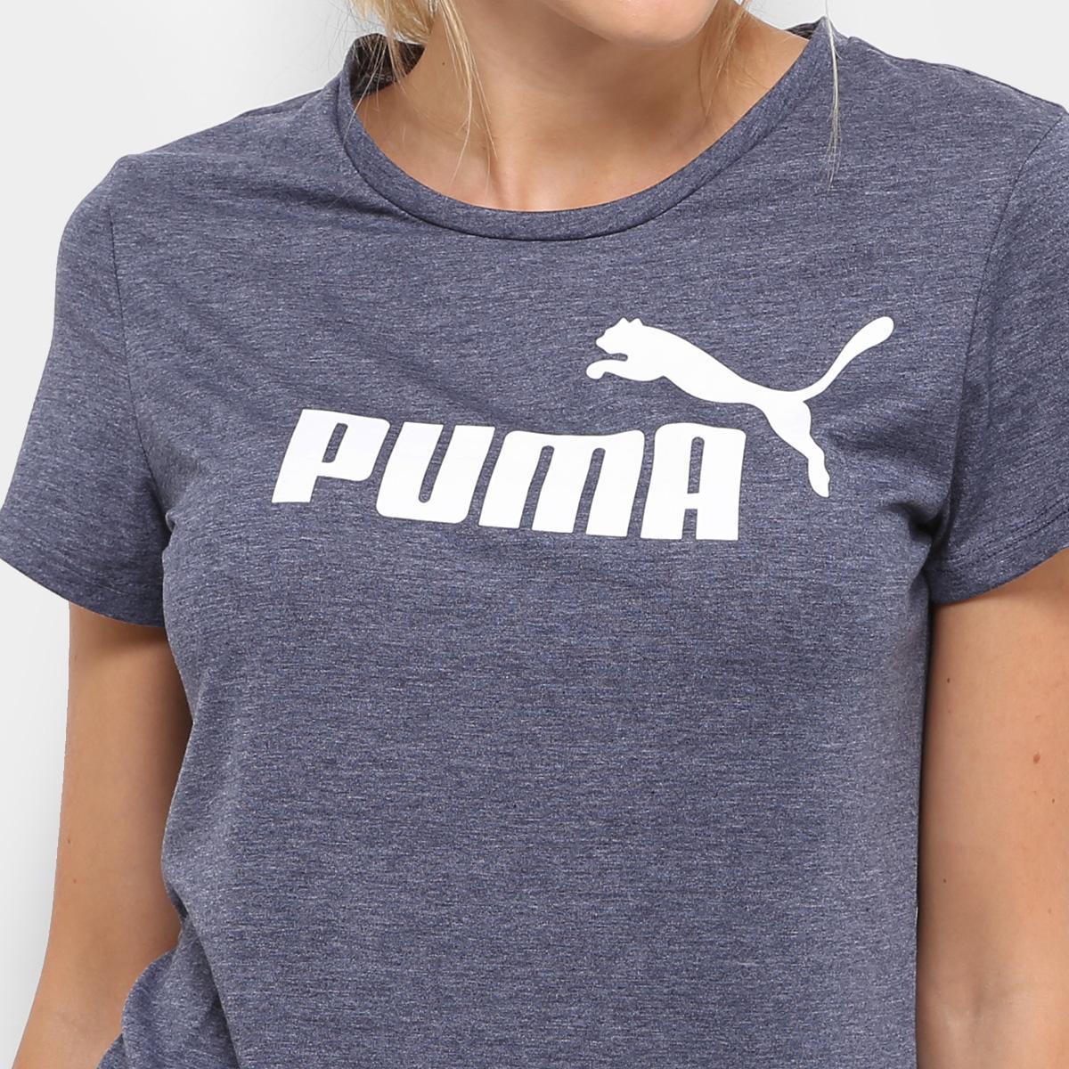 Camiseta Puma Essentials Heather Tee - Roxo - Original