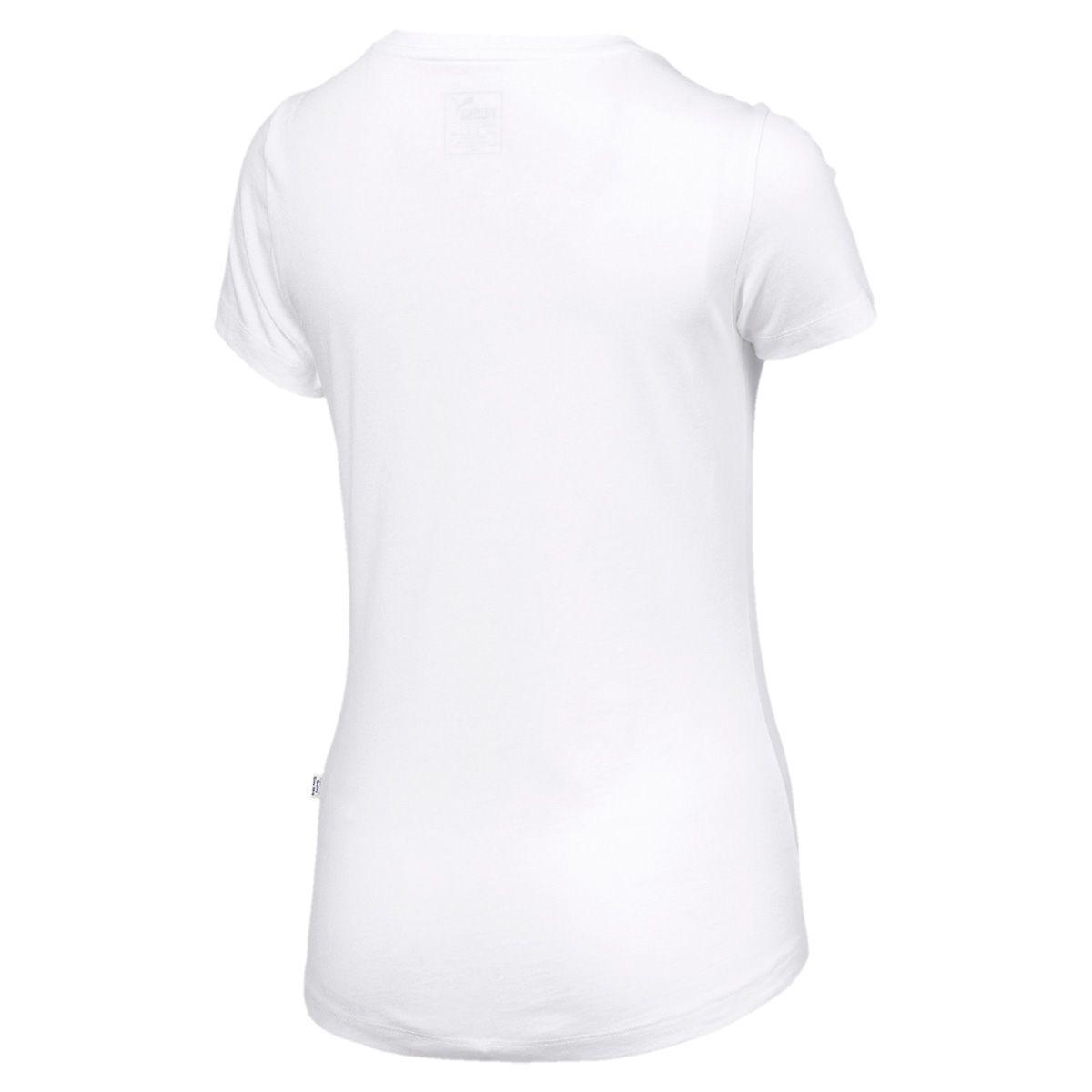 Camiseta Puma Essentlals Logo Feminina - Branca