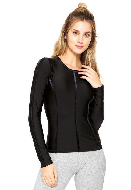 Camiseta Puma Nocturnal Velvet Ls Preta