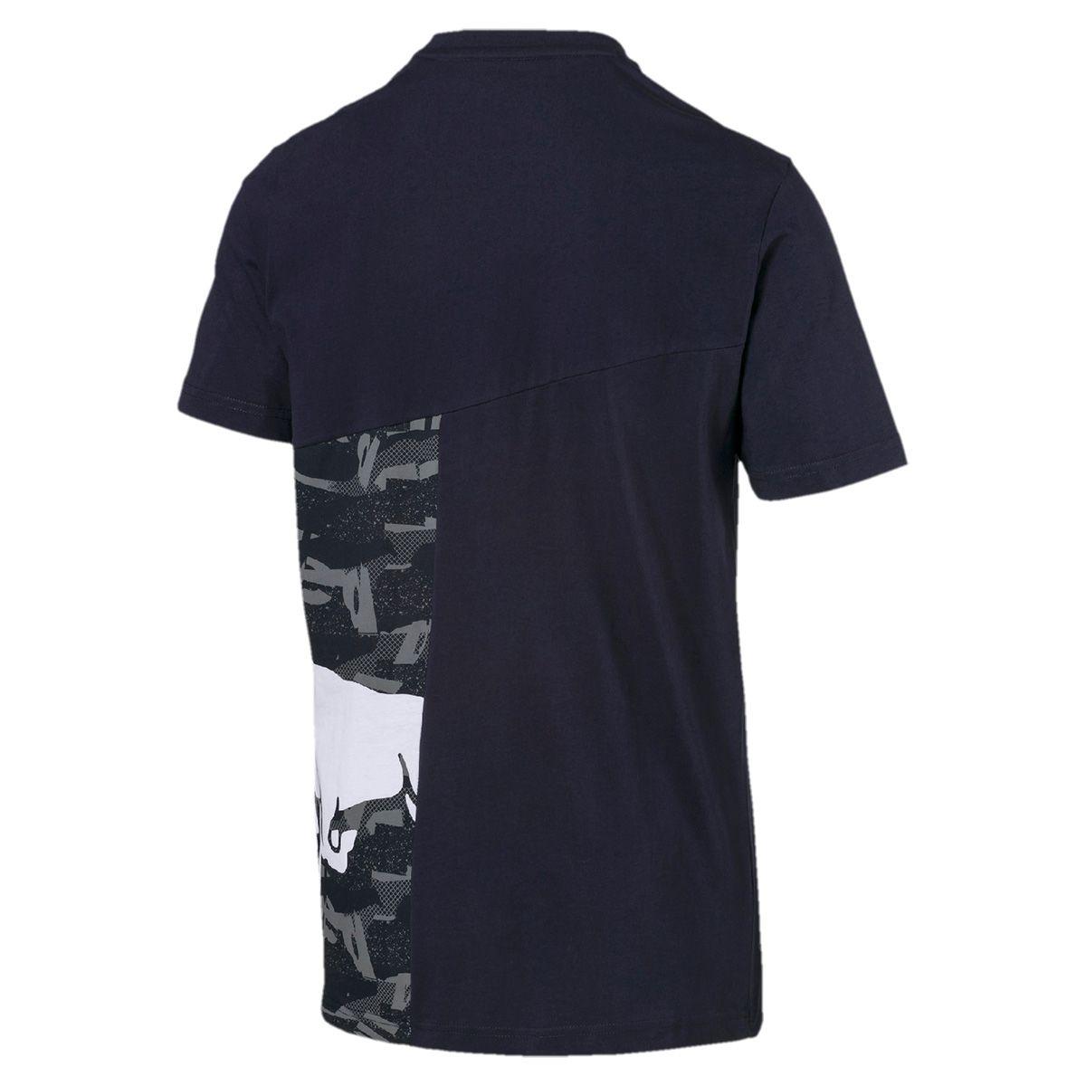 Camiseta Puma Red Bull Double Bull Masculina Marinho Motorsport - Original