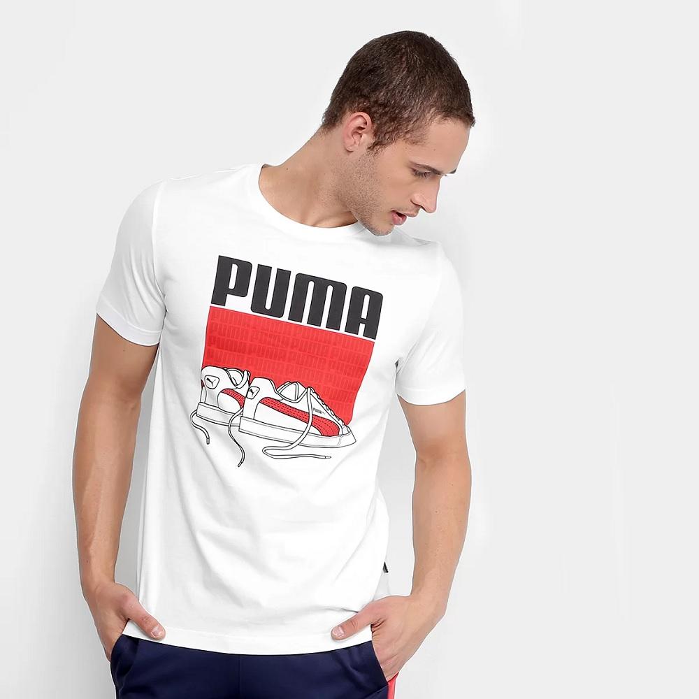 Camiseta Puma Sneaker Tee Masculina - Branco