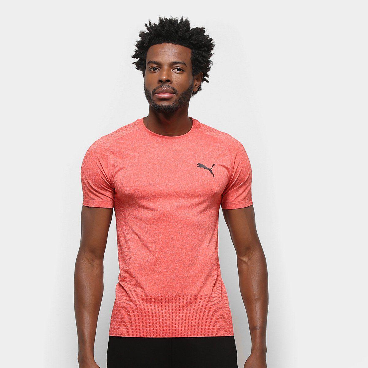 Camiseta Puma tec sports evoknit basic tee VERMELHA