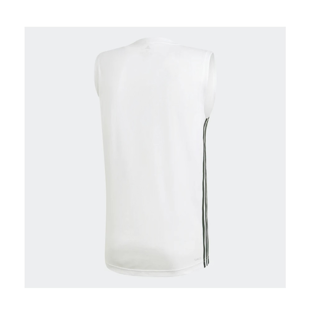 Camiseta Regata Adidas Design 2 move 3-stripes - Branco