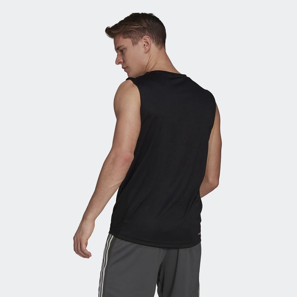 Camiseta Regata Adidas Esportiva Aeroready Desingned To Move 3-Stripes