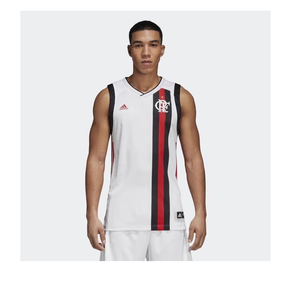 Camiseta Basquete Regata Flamengo Away II Adidas - Branca