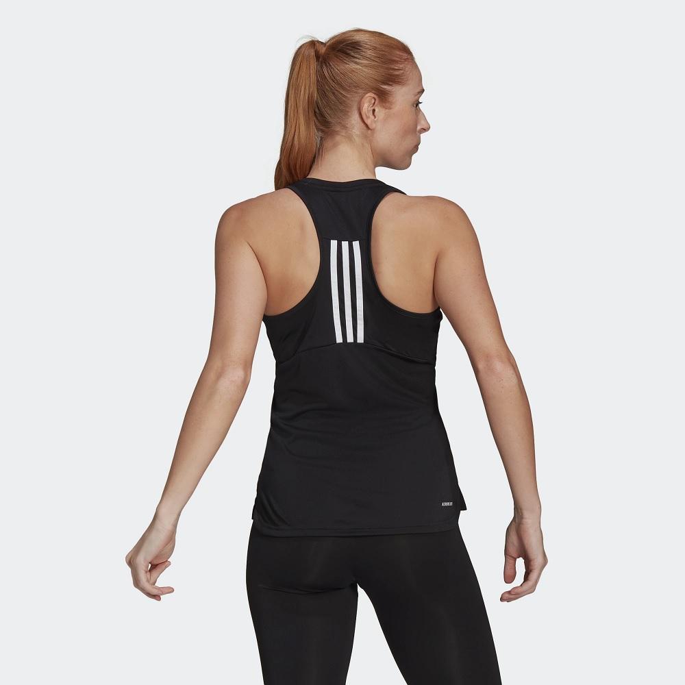Camiseta Regata Adidas gl3792 3s - Preta - Feminina