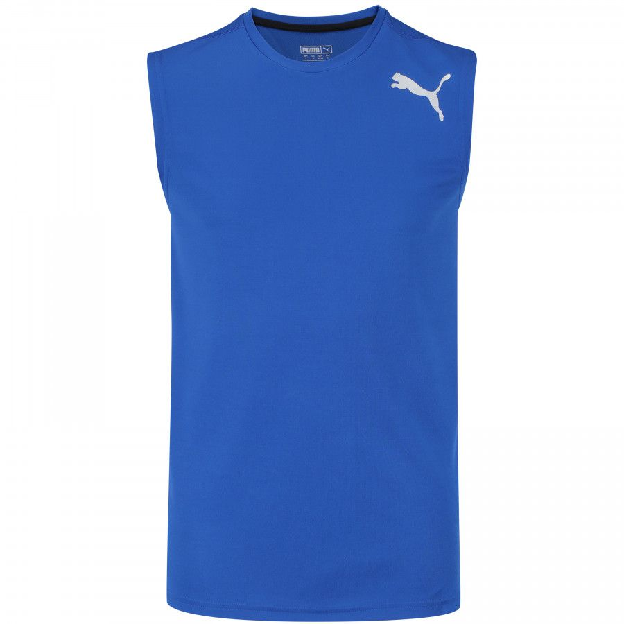 296484076e641 Camiseta Regata Puma Essential Sleeveless - Masculina - Azul ROYAL -  Titanes Esportes