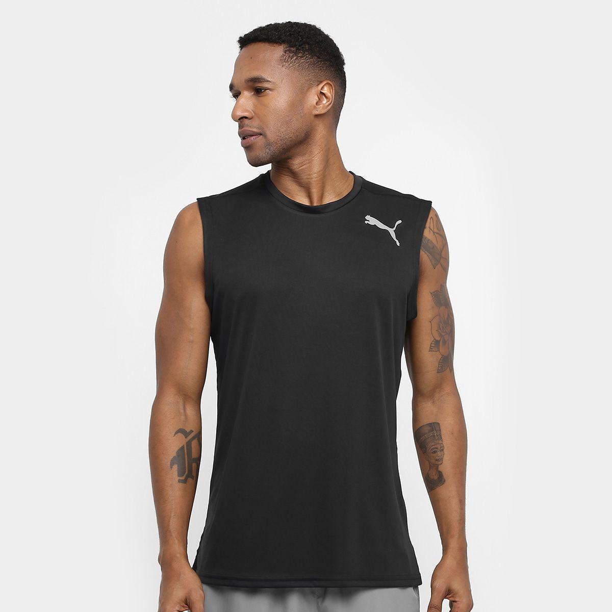 36facd4eb2e73 Camiseta Regata Puma Essential Sleeveless - Masculina - Preto - Titanes  Esportes