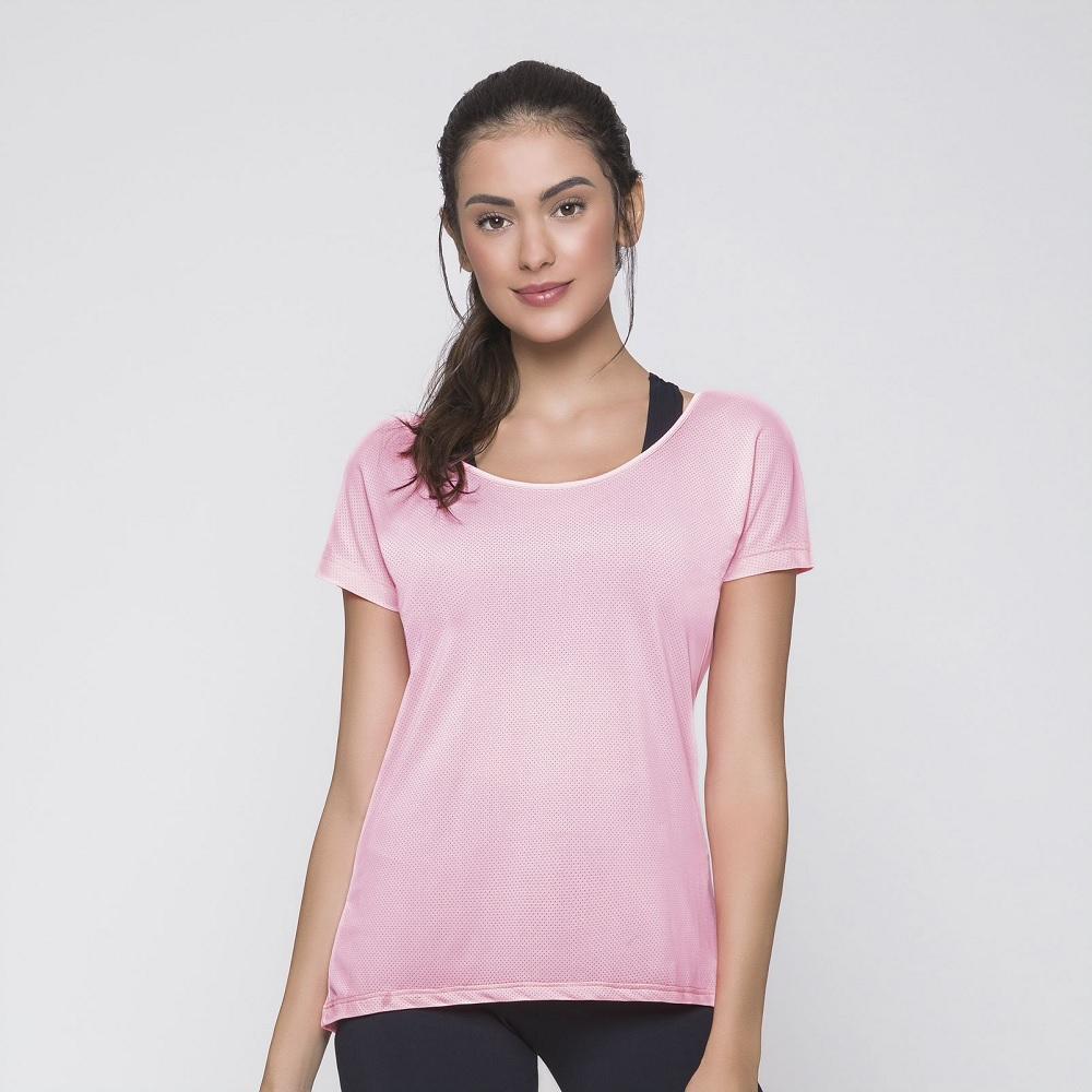 Camiseta Selene Dry Fit - Rosa Salmon - 20860.002