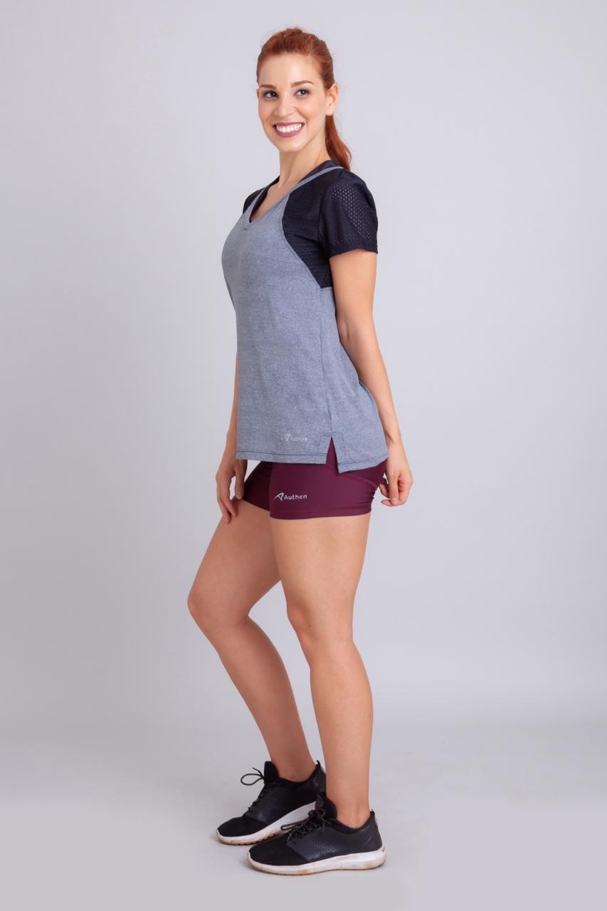 Camiseta Swoll Cinza Mescla - Authen