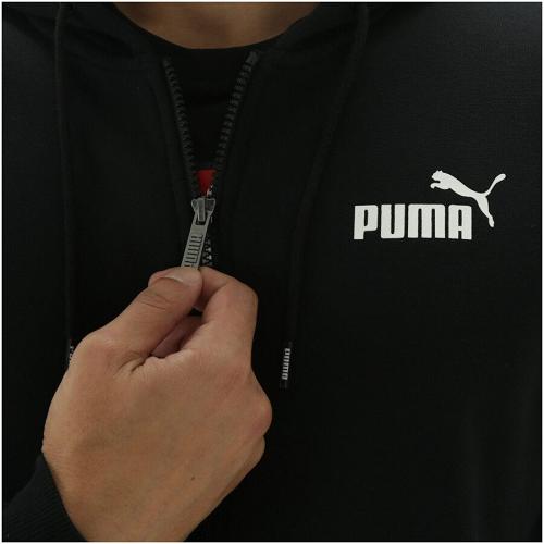 Casaco Moletom Puma ESS FZ Hoody FL - Preto
