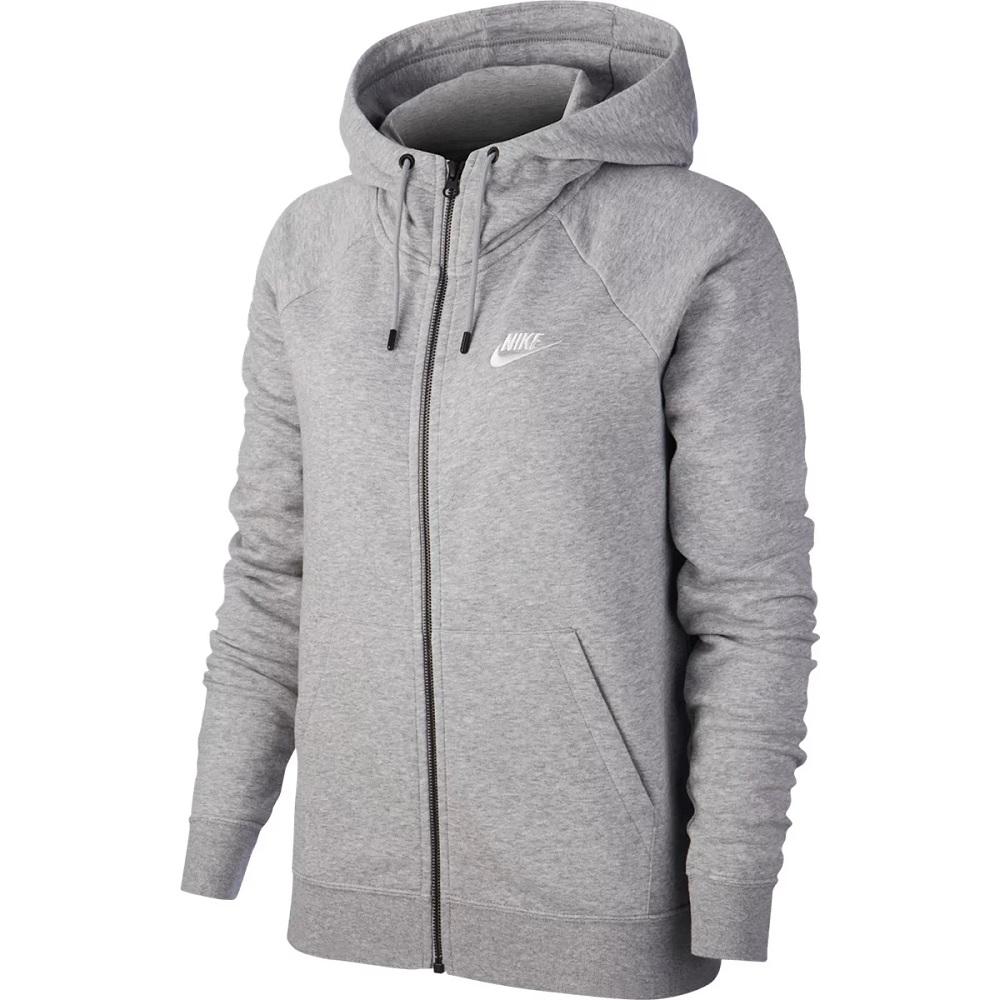 Casaco Nike moletom Essential NSW c/ Capuz - Feminina - cinza