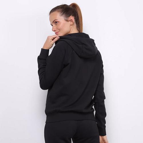 Casaco Nike moletom Essential NSW c/ Capuz - Feminina - PRETA