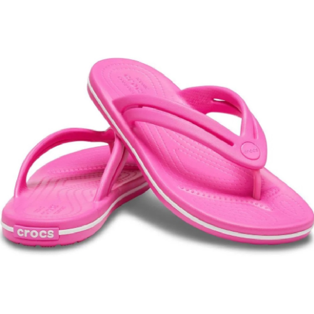 Chinelo Crocs Crocband Flip - Eletric Pink