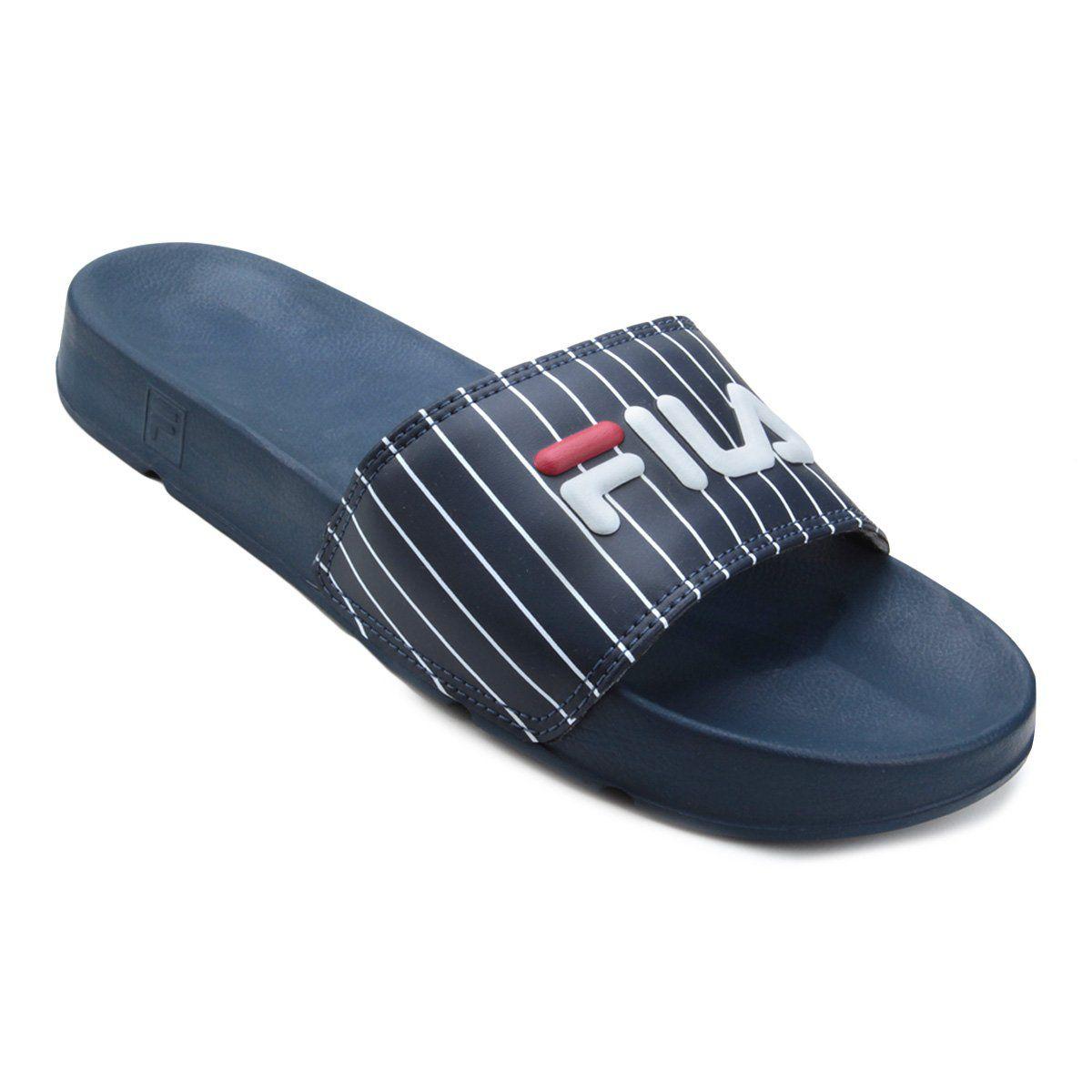 Chinelo Fila Drifter Basic Azul - Slide - Original