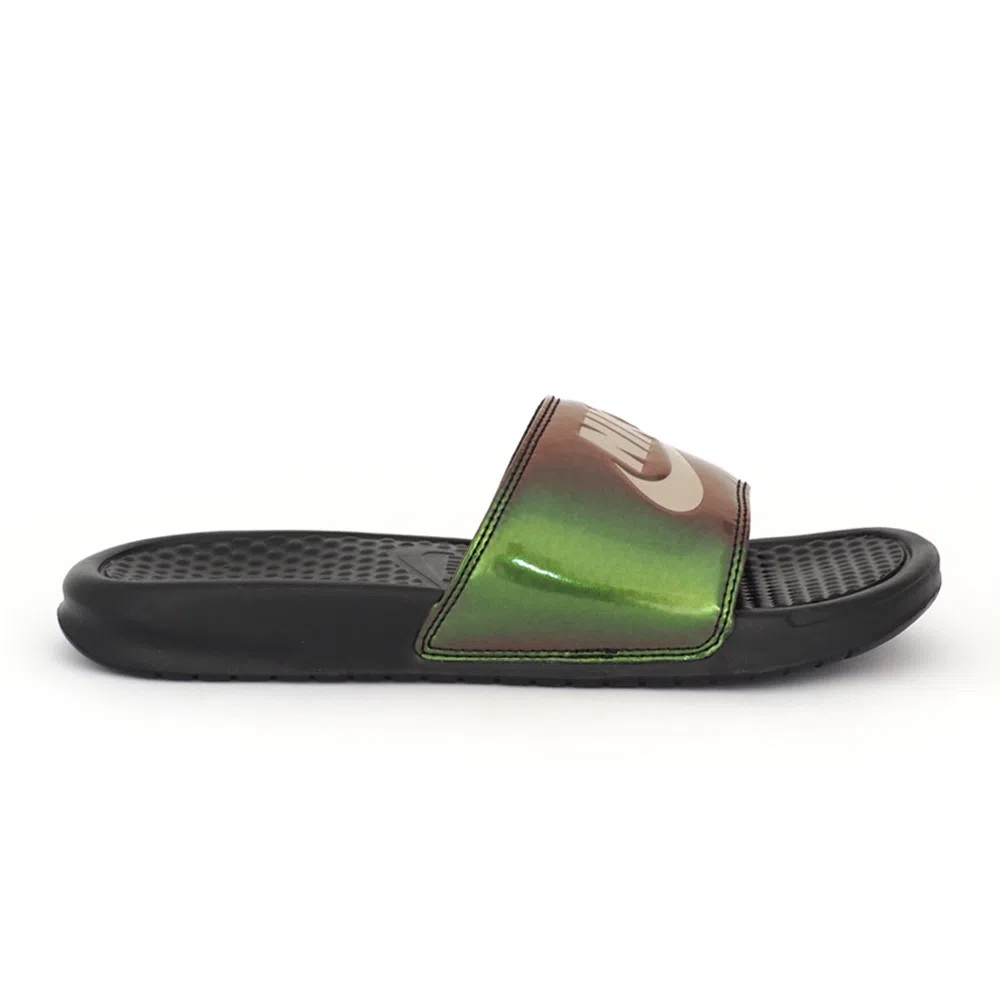 Chinelo Nike Benassi JDI Print  Preto/Verde