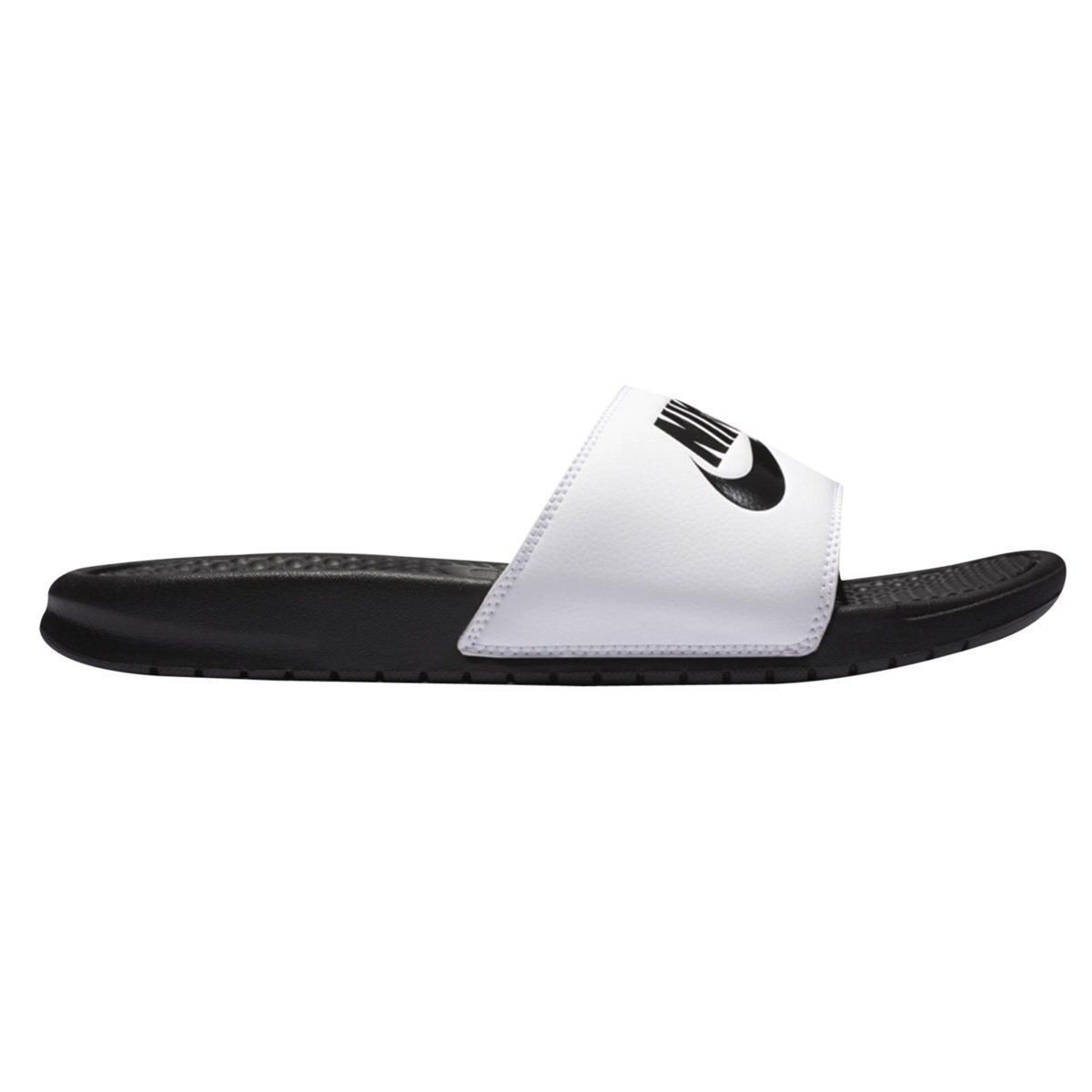 Chinelo Sandália Nike Benassi - Preto / Branco