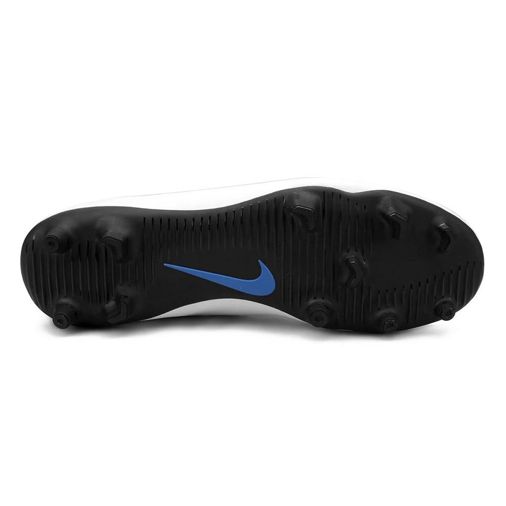 Chuteira Campo Nike Bravata Ii Branco/Azul