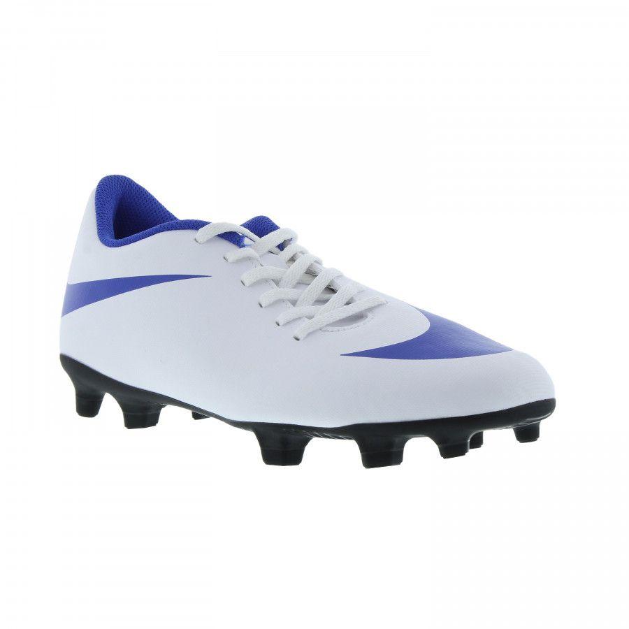 bcf4710fb09b0 Chuteira Campo Nike Bravata Ii Branco/Azul - Titanes Esportes