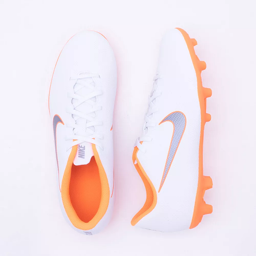 Chuteira Campo Nike Merc Vapor 12 Club - Branco