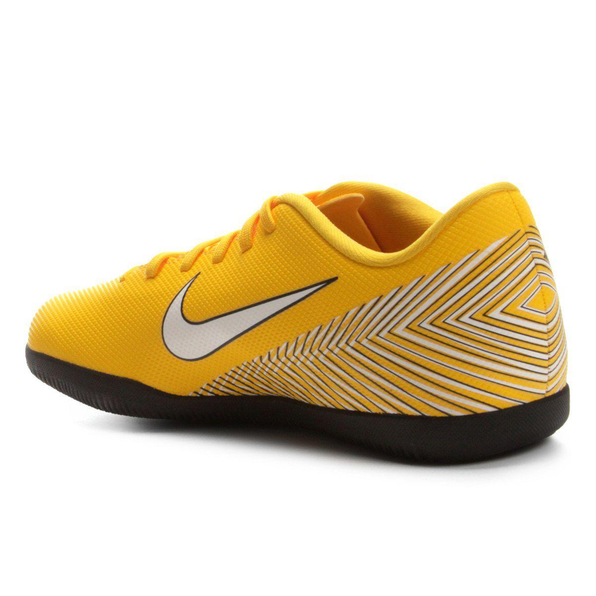3f6b1daccdda9 Chuteira Futsal Nike Mercurial Vapor 12 Club Neymar IC INFANTIL - Amarelo e  Preto - Titanes Esportes