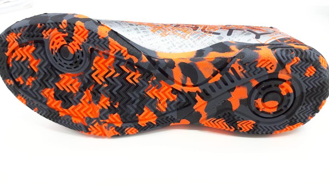 Chuteira Futsal Penalty Soccer RX Locker VII IC - Infantil Laranja