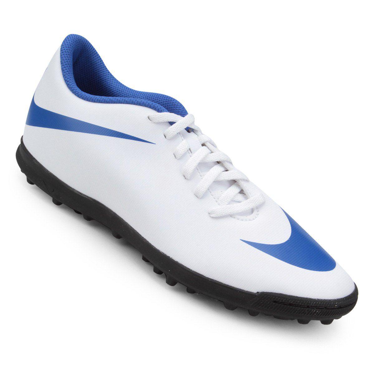 Chuteira Society  Nike Bravata Ii Azul/Branco