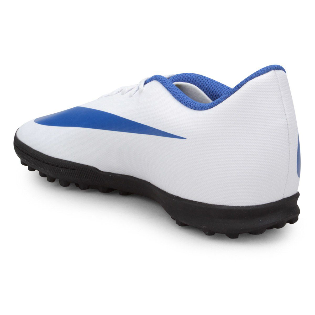 4f8b05dae4e93 Chuteira Society Nike Bravata Ii Azul Branco - Titanes Esportes