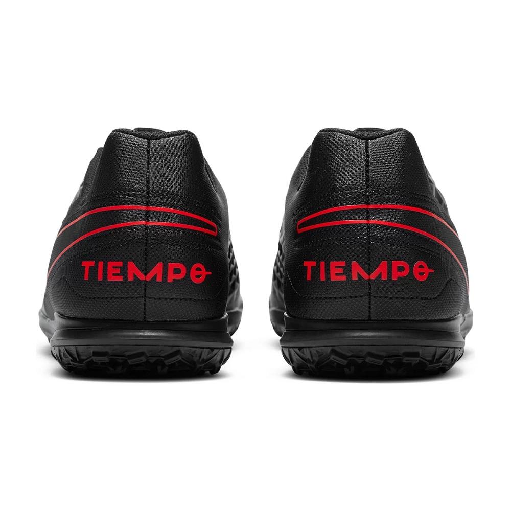 Chuteira Society Nike Tiempo Legend 8 Club TF Preto/Vermelho