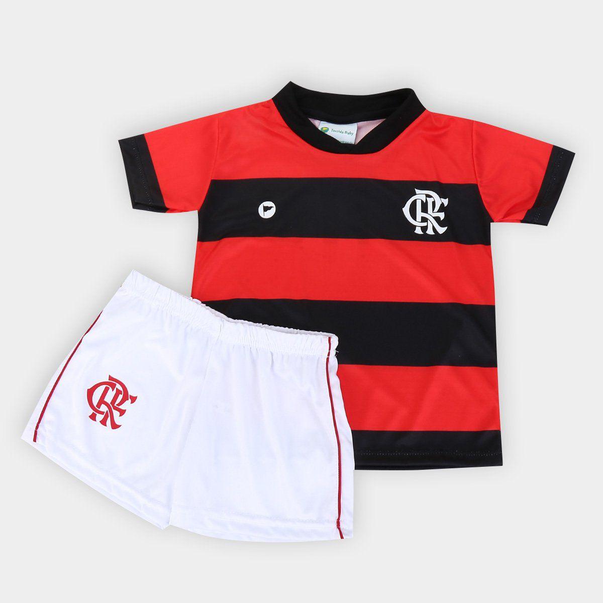 Conjunto Infantil do Flamengo Torcida Baby - 1 Ano