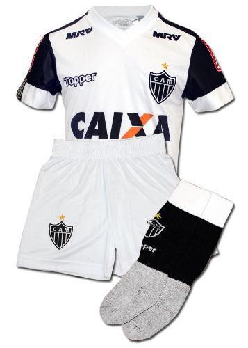 Conjunto Oficial Infantil Atlético Mineiro Branco