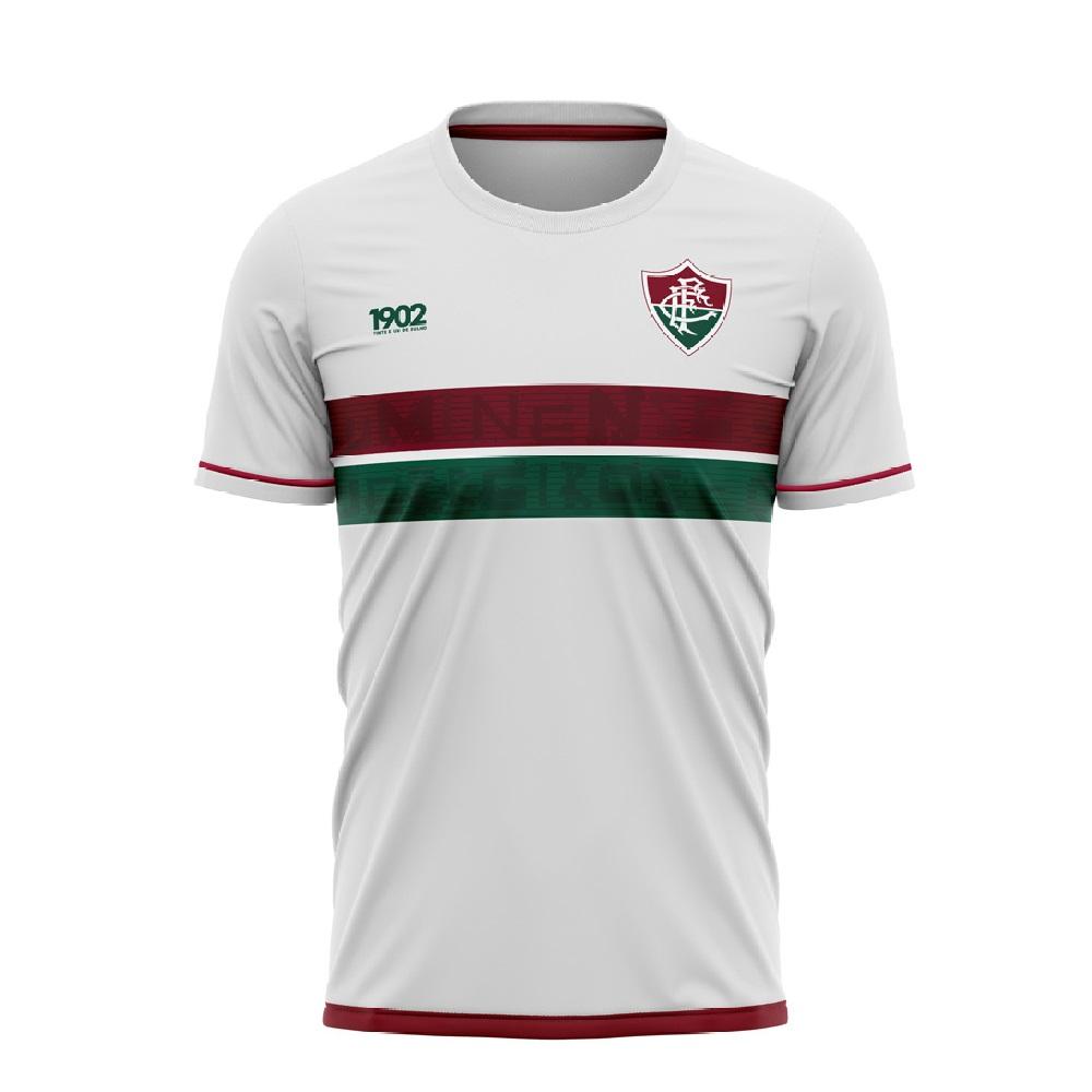 Camiseta Fluminense Approval Braziline Masculina - Branca