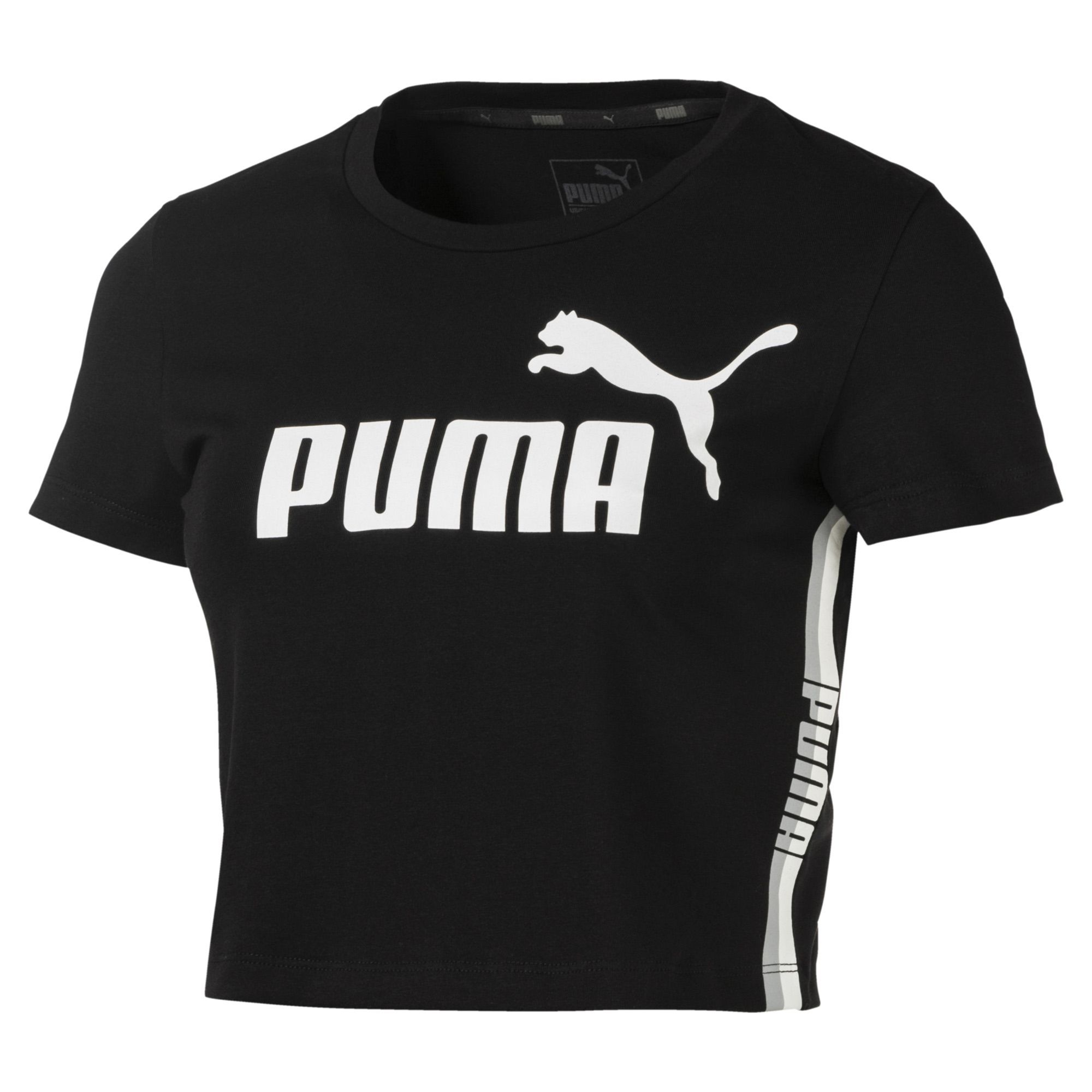 Cropped Puma Tape Logo Preto - Original 2018