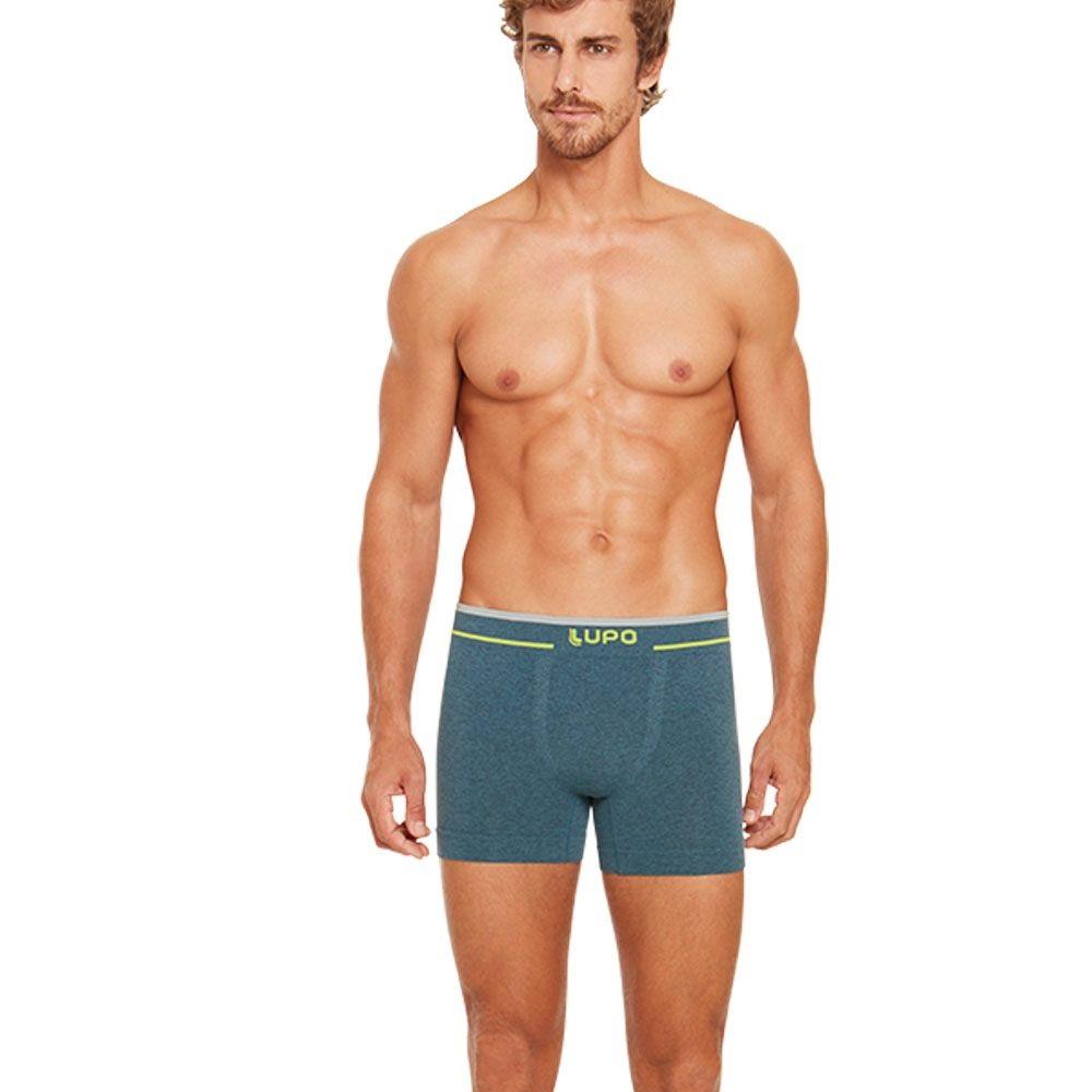 Cueca Lupo Boxer Sem costura - Azul