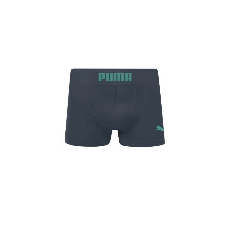 Cueca Puma Long Boxer Sem Costura - Cinza\verde