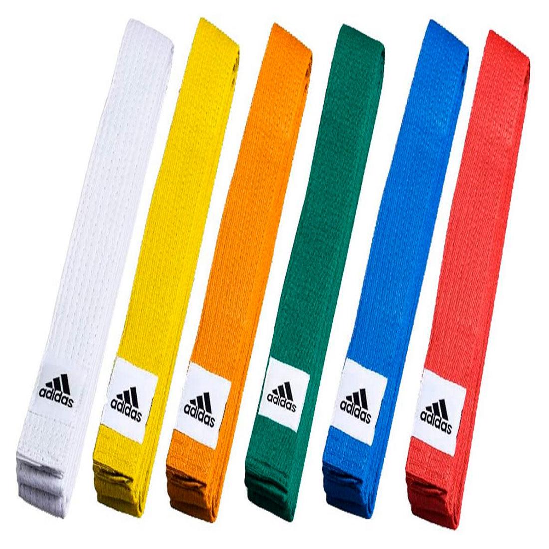 Faixa Colorida Club Belt Adulto Adidas - Marrom