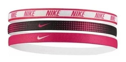 Faixa De Cabelo Nike Printed 3pk Assorted - Branc/rosa/ Preto