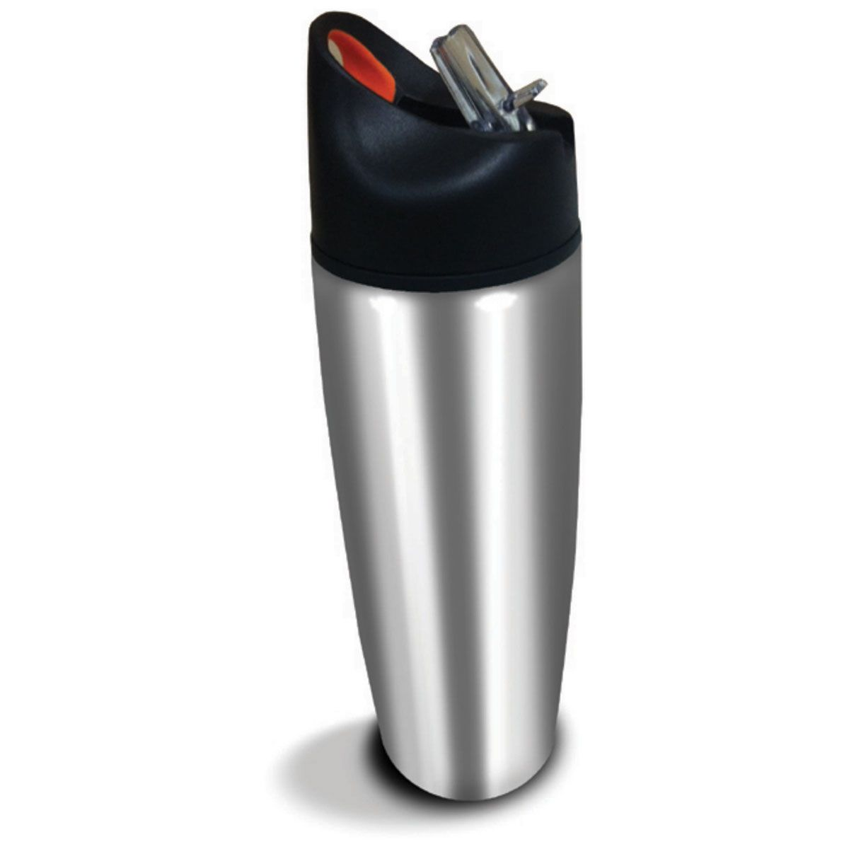 Garrafa Squeeze Em Aço Prata 900ml - Acte - C16