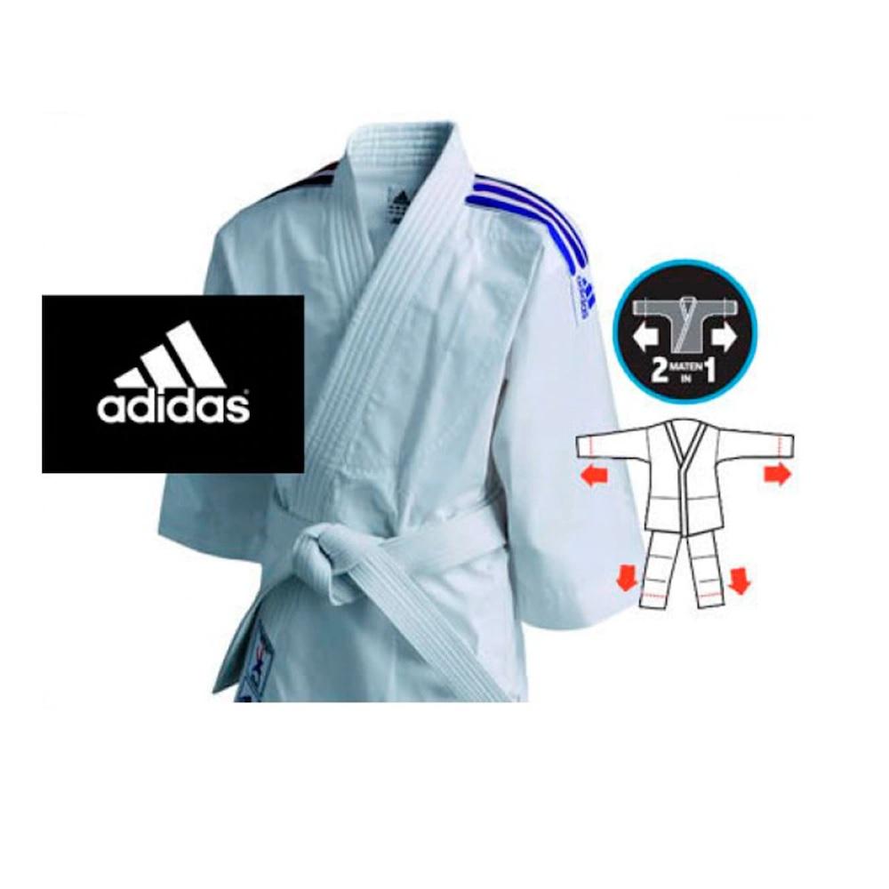 Kimono Adidas Infantil Branco Evolution - Branco/Azul escuro