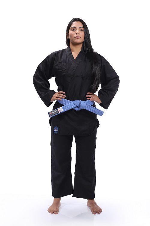 Kimono Reforçado - Kung Fu - Torah - Preto - M1 Frete Grátis